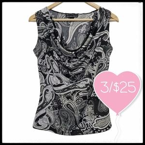 ⭐3/$25⭐Beechers Brook Cowl Neck Sleeveless Blouse